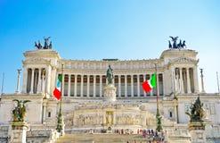 Национальный монумент к Виктору Emmanuel II в Риме Стоковые Фото