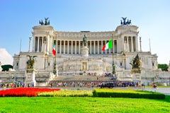 Национальный монумент к Виктору Emmanuel II в Риме Стоковое фото RF