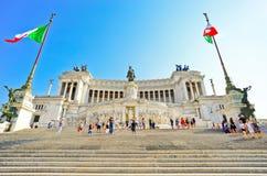 Национальный монумент к Виктору Emmanuel II в Риме Стоковая Фотография
