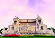 Национальный монумент к Виктору Emmanuel II в Риме Стоковые Фотографии RF