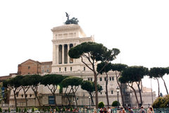 Национальный монумент к Виктору Emmanuel II Рим - Италия Стоковые Изображения RF