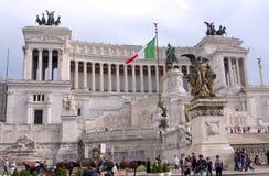 Национальный монумент к Виктору Emmanuel II Рим - Италия Стоковое фото RF
