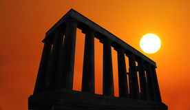 Национальный монумент Шотландии Стоковые Изображения