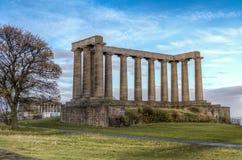 Национальный монумент Шотландии стоковое изображение