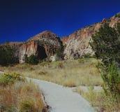 Национальный монумент Bandelier - Неш-Мексико Стоковое Изображение RF