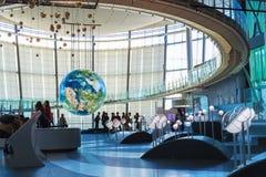 Национальный музей вытекая вытекая науки и нововведения в Odaiba, токио Стоковое Изображение RF