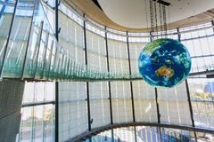 Национальный музей вытекая вытекая науки и нововведения в Odaiba, токио Стоковые Изображения