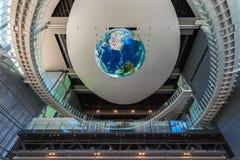 Национальный музей вытекая вытекая науки и нововведения в Odaiba, токио Стоковая Фотография