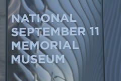 Национальный музей 11-ое сентября мемориальный в более низком Манхаттане Стоковая Фотография