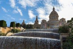 Национальный музей Placa de Ispania в Барселоне, Испании в a Стоковое фото RF