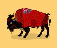 Национальный орнаментальный Bull Стоковые Изображения RF