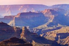Национальный парк Аризона гранд-каньона оправы величественного захода солнца южный стоковое изображение rf