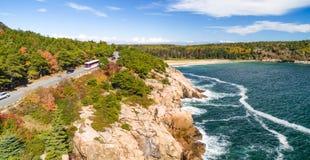 Национальный парк в сезоне листвы, Мейн Acadia стоковое изображение