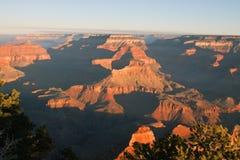 Национальный парк гранд-каньона на зоре стоковая фотография