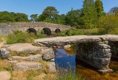 Национальный парк Девон Англия Великобритания Postbridge Dartmoor Стоковые Фотографии RF