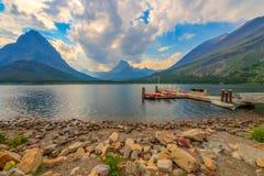 Национальный парк ледника озера Swiftcurrent Стоковое Изображение RF