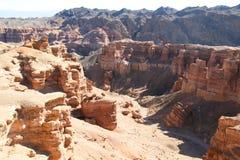 Национальный парк каньона в Казахстане Стоковые Фотографии RF