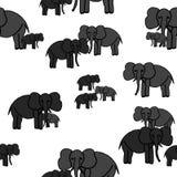 национальный парк Кении семьи слонов amboseli Стоковые Фото