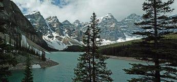 Национальный парк озера морен, Banff, Альберта, Канада Стоковая Фотография RF