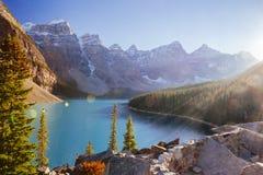 Национальный парк озера морен, Lake Louise, Banff, Альберта, Канада Стоковые Изображения