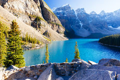 Национальный парк озера морен, Lake Louise, Banff, Альберта, Канада Стоковые Изображения RF