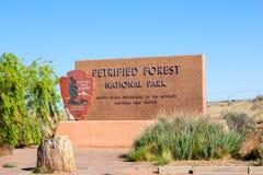 Национальный парк окаменелой пущи Стоковое Изображение RF