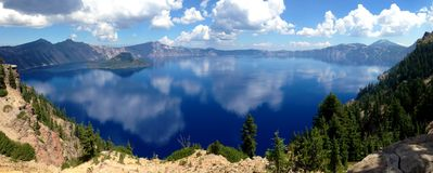 Национальный парк Орегон озера кратер Стоковое Изображение RF