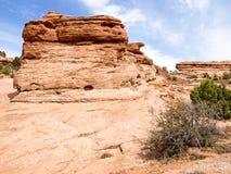 Национальный парк природы, Юта Ландшафт и утесы Дороги и p Стоковое Фото