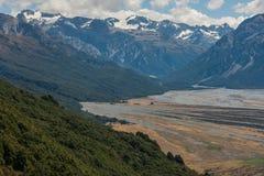 Национальный парк пропуска Артура, Новая Зеландия Стоковое Изображение RF