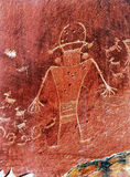 Национальный парк рифа петроглифов Fremont индейца коренного американца прописной Стоковые Изображения