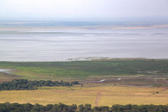 Национальный парк Танзания Manyara вида на озеро Стоковое Изображение RF