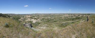 Национальный парк Теодора Рузвельта панорамный стоковые фотографии rf