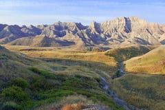 национальный парк южные США Дакоты неплодородных почв стоковые фотографии rf