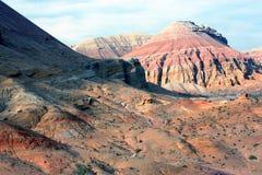 Национальный парк Altyn-Emel, каньон Ak-Tau Стоковое фото RF