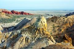 Национальный парк Altyn-Emel, каньон Ak-Tau Стоковые Фотографии RF