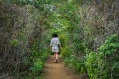 Национальный парк Christoffel - ходоки Стоковые Фотографии RF
