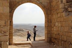 Национальный парк Ein Avdat, пустыня Негев, Израиль Стоковые Изображения