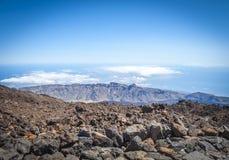 Национальный парк El Teide, Тенерифе, Канарские острова стоковое изображение rf