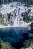 Национальный парк Kelimutu с озером Tiwu Ata Bupu Стоковое фото RF