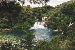 Национальный парк Krka - buk Skradinski водопада Стоковое Изображение RF