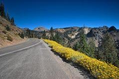 Национальный парк Lassen вулканический в Калифорнии Стоковые Изображения