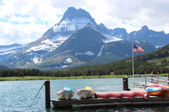 национальный парк mcdonald ледникового озера стоковые изображения rf