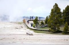 Национальный парк Paintpots Йеллоустона художников, Вайоминг Стоковое Изображение RF