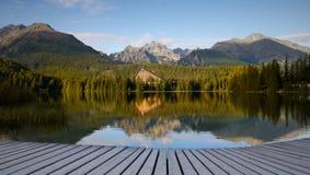 Национальный парк Tatras озера гор высокий Стоковые Изображения RF