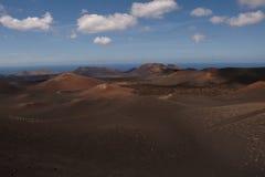 Национальный парк Timanfaya вулкана Стоковая Фотография RF