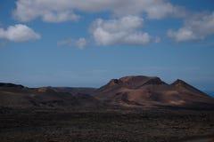 Национальный парк Timanfaya вулкана Стоковые Фотографии RF