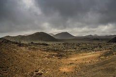 Национальный парк Timanfaya - Лансароте Стоковое Изображение