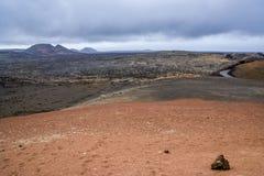 Национальный парк Timanfaya - Лансароте Стоковые Изображения RF