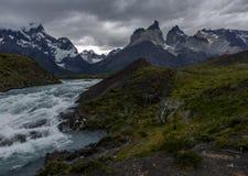 Национальный парк Torres Del Paine, Патагония, Чили Стоковые Фото