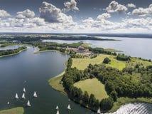 Национальный парк Wigry озера Suwalszczyzna, Польша Открытое море и стоковые фото
